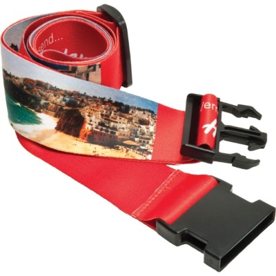 Image of Luggage Strap with Plastic Buckle and Adjuster (Dye Sublimation)